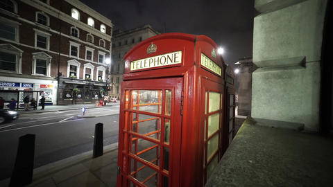 London Telephone Booth - Great For Timelapse - LONDON, ENGLAND NOVEMBER 20, 2014 stock footage