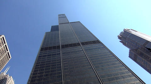 Willis Tower Chicago former Sears Tower - CHICAGO, ILLINOIS/USA Footage