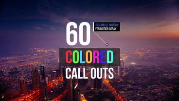 60 Colored Call Outs Premiere Proテンプレート