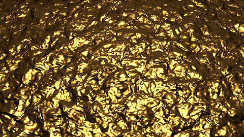 Wavy golden background material CG動画素材