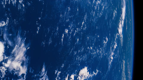 Planet Earth seen from the ISS. The hurricane storm over the ocean., satellite Image