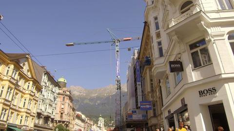Pov Marienstrasse krane, Innsbruck Footage