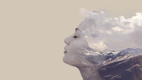 Double exposure effects for women CG動画素材
