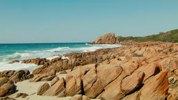 Rocks On The Beach At Castle Bay Near Dunsborough Footage