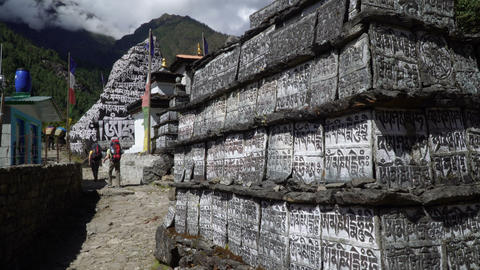 Traditional prayer stone in Nepal 영상물