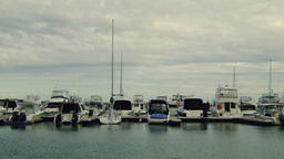 Boats and Yachts Moored in a Marina in Perth Footage