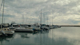 Timelapse of a Row of Yachts Moored in a Marina in Perth Footage