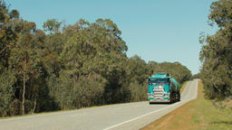 Passing Fuel Tanker On An Australian Country Highway Footage