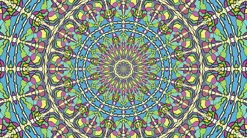 Colorful Looping Kaleidoscope Sequence