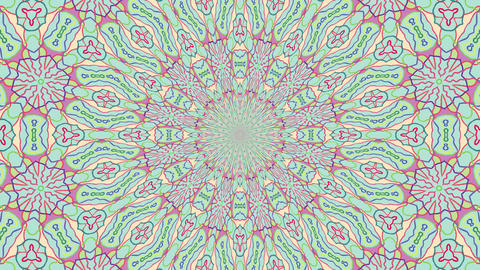 Colorful Looping Kaleidoscope Sequence 0
