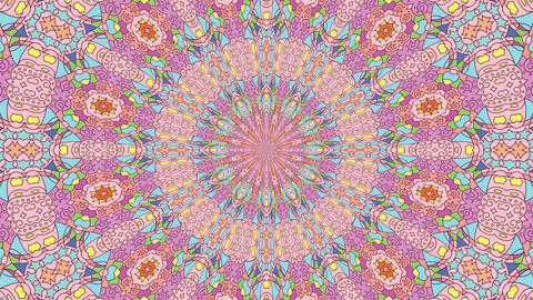 Colorful looping kaleidoscope sequence. Abstract motion graphics background Live Action