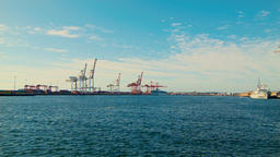 View Across Swan River Mouth Towards Fremantle Port Footage