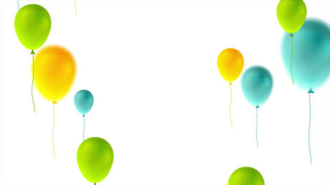 Colorful balloons happy birthday abstract video animation Animation