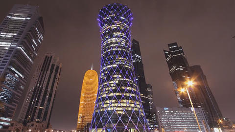 The Modern City Of Doha Qatar.
