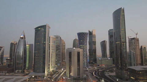 The Modern City Of Doha Qatar. 0