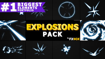 Hand Drawn Explosion Elements And Transitions After Effects Template