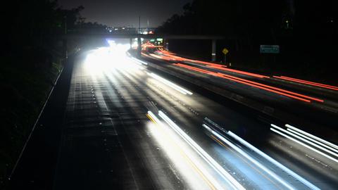 La speedway light trails Live Action