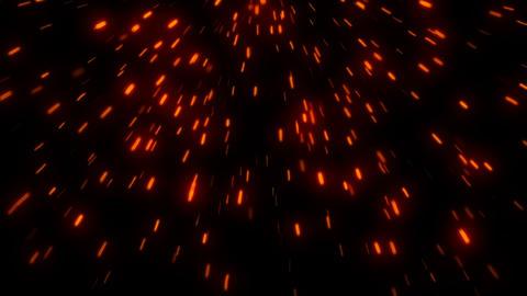 Hot glowing embers. Digital illustration Footage