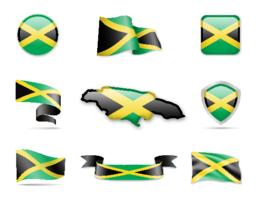 Jamaica Flags Collection Vector