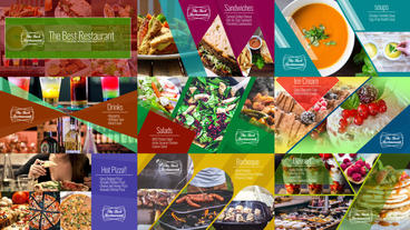Food Menu Slide Show Template After Effects Template