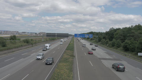 Five lane highway in Germany 영상물