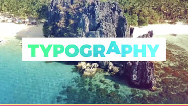 Typography Slideshow Plantilla de After Effects