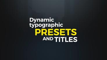 Dynamic Typographic Presets Premiere Pro 템플릿