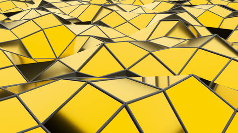 Abstract seamless gold triangular crystalline background animation Live Action