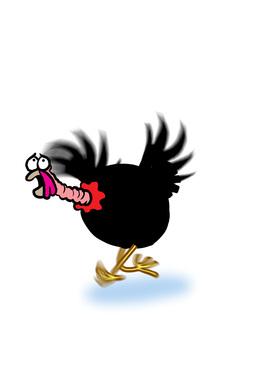 Turkey running away Animation