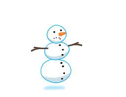 Snowman running Animation