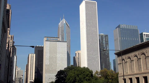 Famous buildings in Chicago - CHICAGO, ILLINOIS/USA Live Action