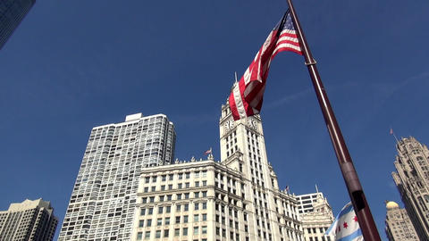 Wrigley Building Chicago - CHICAGO, ILLINOIS/USA Footage