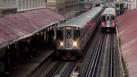Chicago Subway train - CHICAGO, ILLINOIS/USA Live Action