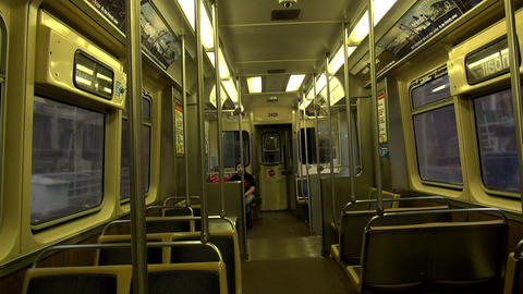 Chicago subway car - CHICAGO, ILLINOIS/USA Live Action