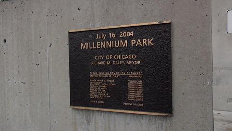 Sign Millennium Park Chicago - CHICAGO, ILLINOIS/USA Footage
