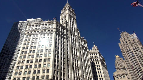 Chicago Wrigley building - CHICAGO, ILLINOIS/USA Live Action