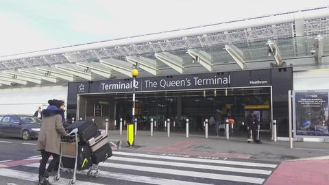 London Heathrow Airport - Queen's terminal Live Action