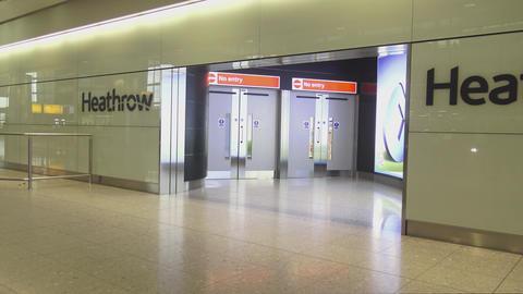 London Heathrow Airport Arrivals Live Action