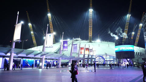 London O2 Arena by night - LONDON, ENGLAND NOVEMBER 20, 2014 Live Action