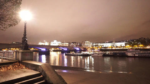 City of Westminster skyline from London southbank - LONDON, ENGLAND NOVEMBER 20, Live Action