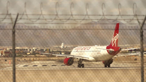 Virgin America aircraft is ready for departure – April 18th 2015 Live Action