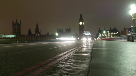 4k - Time lapse shot of Westminster Bridge and Big Ben by night – March 2nd 20 Live Action