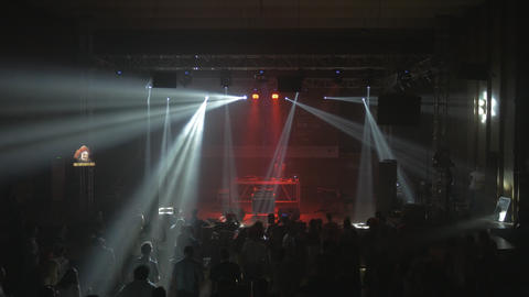 Live DJ performance in a concert hall - electronic music show Live Action