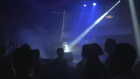 DJ party in opera concert hall - underground electronic dance music Live Action