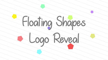 Floating Shapes Reveal After Effects Template