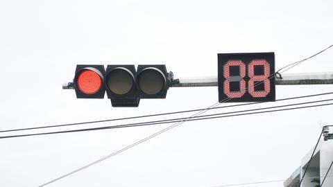 traffic light turns green Filmmaterial