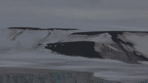 Glaciers and snowbanks on Islands Payer Footage