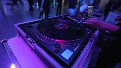 DJ Mixer Vinyl Records GIF