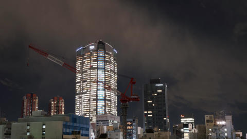 Timelapse of Tokyo city view with modern building at night 영상물