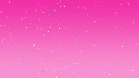 many whitestars rising pink background CG動画素材